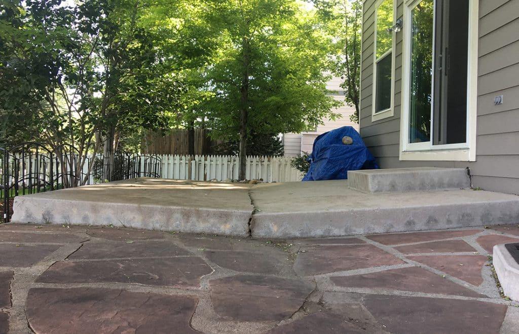 level your concrete patio