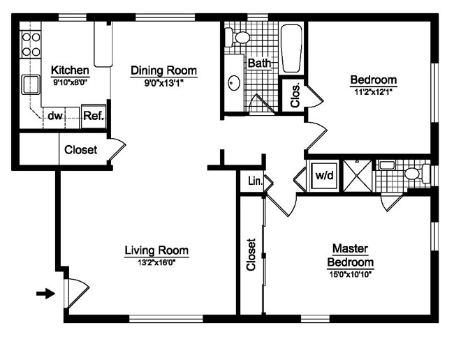 1 bedroom 640 square foot floor plans for 640 square feet floor plan