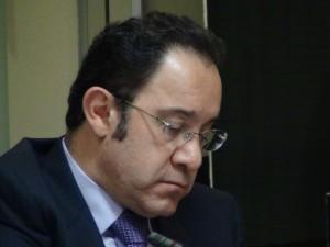 En la imagen, el diputado Óscar Alfaro. CRH
