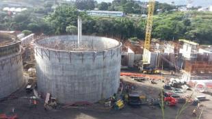 Así avanzaba en octurbe pasado la construcción de la Planta de Tratamiento de Aguas Residuales, ubicada en Los Tajos. MINAE para CRH