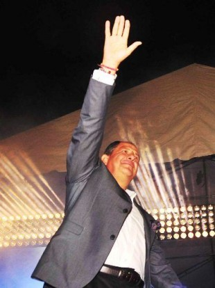 Luis Guillermo Solís, presidente electo.Herbert Arley, para CRH