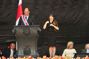 Luis Guillermo Solís repasó promesas en su discurso. (CRH)
