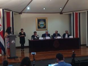 Imagen de la conferencia de prensa tras Consejo de Gobierno hoy. CRH