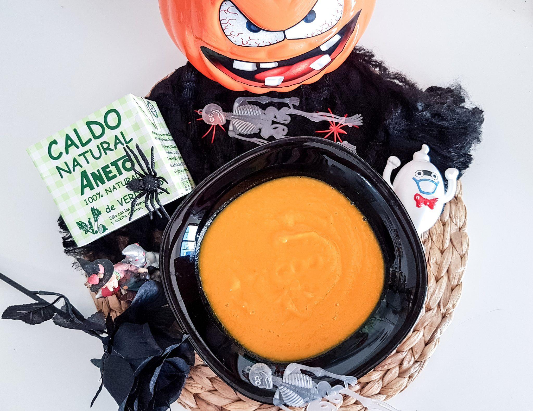 Sopa o crema de calabaza, receta especial Halloween