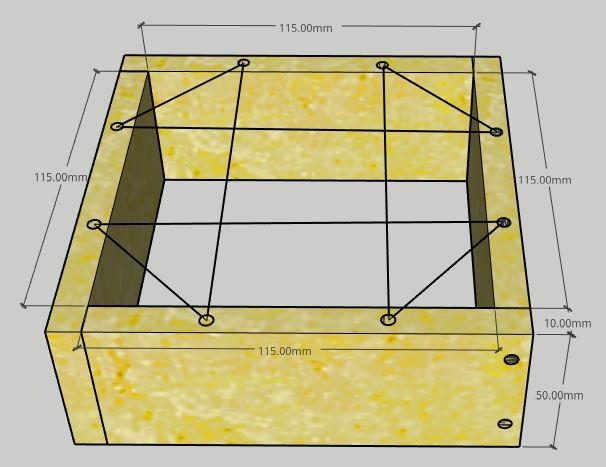 Módulo Gaveta - Medidas Caixa AF Inteligente para Abelhas Jataí