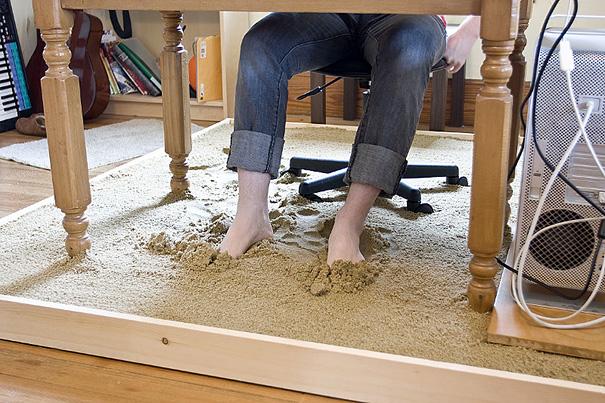 #15 - Trabalhando com o pé na areia.