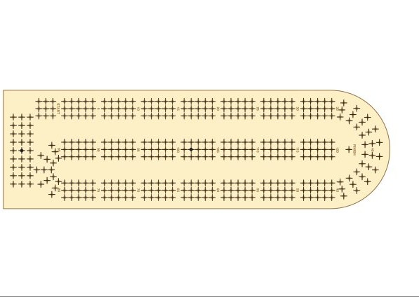 graphic regarding Printable Cribbage Board named Free of charge Cribbage Board Template. cribbage board template