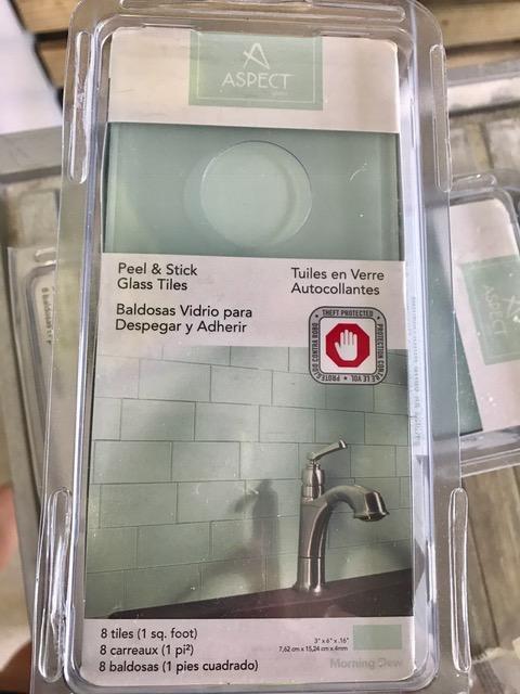 peel and stick glass tile backsplash