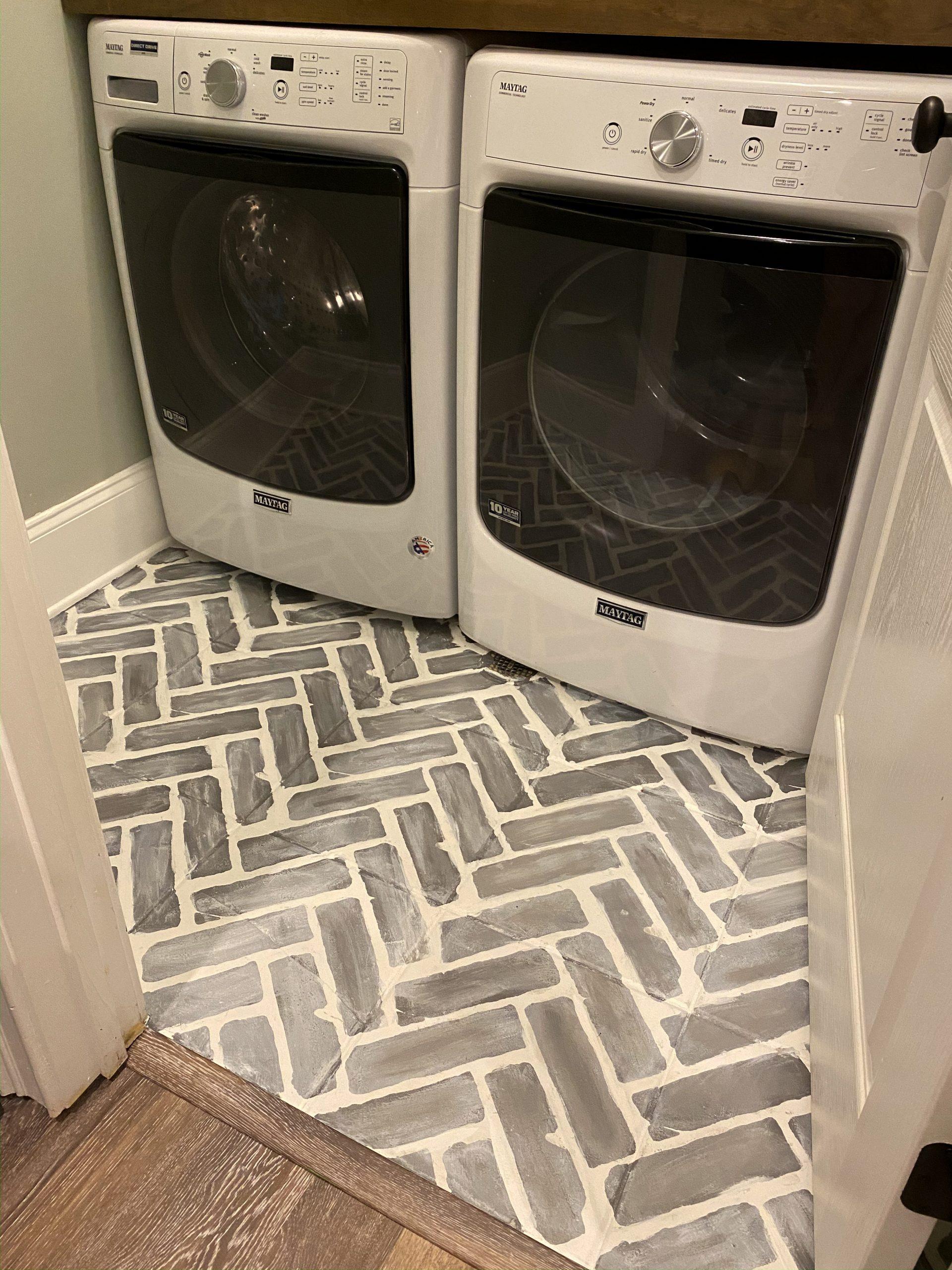 tile floor to look like faux brick