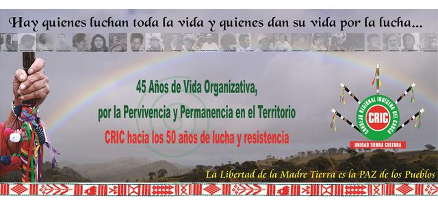 CRIC Junta directiva 45 años