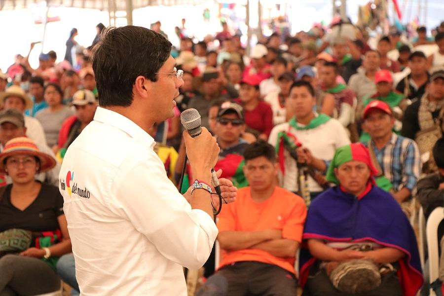 El camino es el diálogo, expresó gobernador de Nariño en su visita a la  minga social del suroccidente - Consejo Regional Indígena del Cauca - CRIC