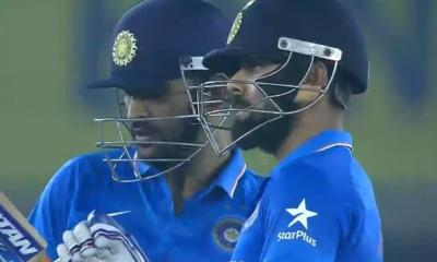 India's Virat Kohli and MS Dhoni