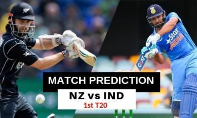India vs New Zealand 1st T20 Match Prediction