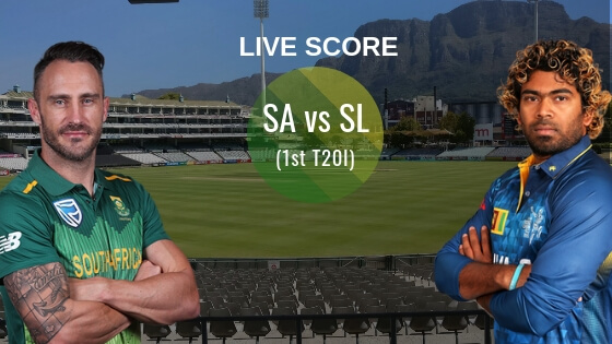SA vs SL 1st T20I Live Score: South Africa vs Sri Lanka Live Cricket Score