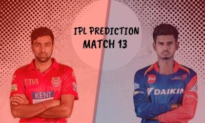 IPL 2019 Match 13 Prediction, KXIP vs DC Match Prediction