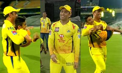 Watch: MS Dhoni having fun with Junior Watson and Junior Tahir