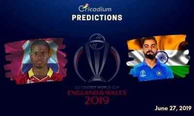 ICC World Cup 2019 Match 34 West Indies vs India Match Prediction Who Will Win Today