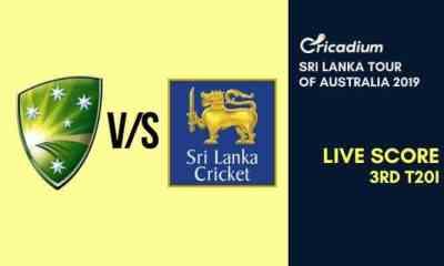 Sri Lanka tour of Australia 2019 3rd T20I Australia vs Sri Lanka Live Cricket Score