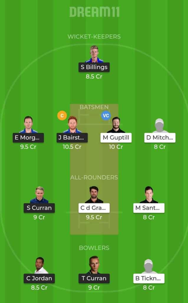 New Zealand vs England Dream 11 Team