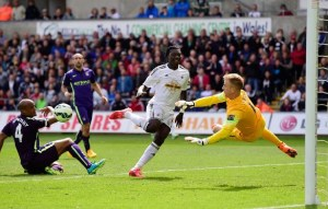 Joe Hart v Swansea City, 2014/15
