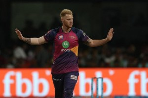 28th match: Ben Stokes was the man-of-the-match for his bowling figures of 4-1-21-2