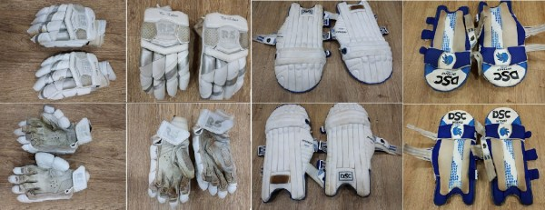 DSC Pads and RS Gloves of Shashank Singh Combine photo
