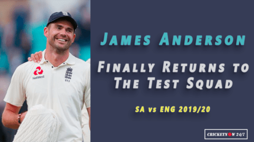 James Anderson Finally Returns as England Name Squad for South Africa Test Series