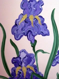 Purple Iris in Bloom