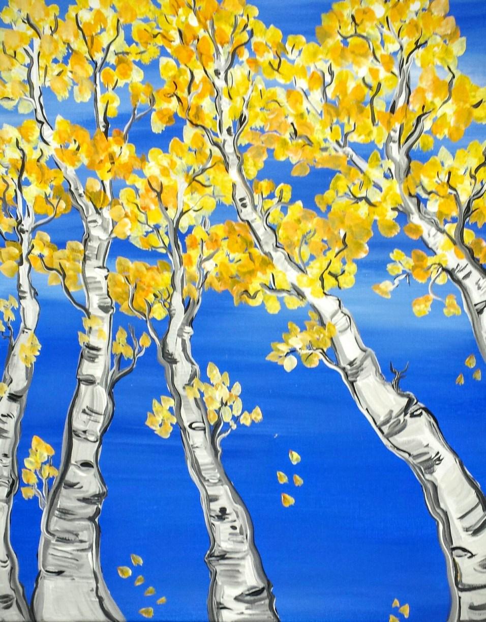 Fall Birch Trees