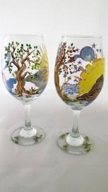 Tree of Life Wine Glasses