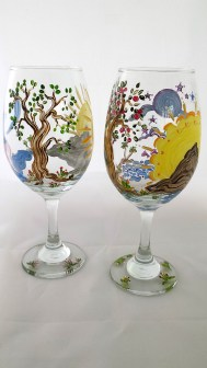 Tree of Life Wine Glasses