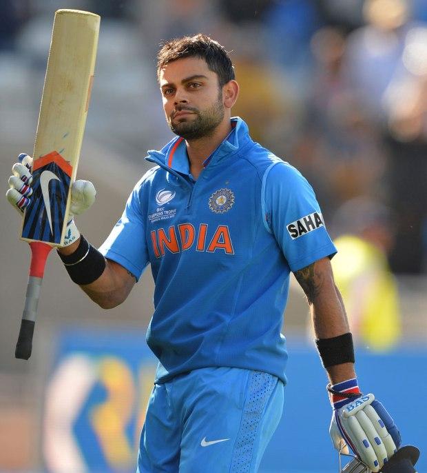 Virat kohli raises bat in Champions Trophy