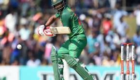 Bangladesh cricketer Tamim Iqbal plays a shot