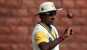 Lakshmipathy Balaji of Tamilnadu at a practice session on the eve of Ranji Trophy Group B match against Delhi