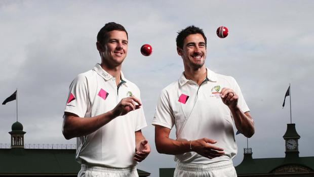 Pink Test Australia Starc and Hazlewood