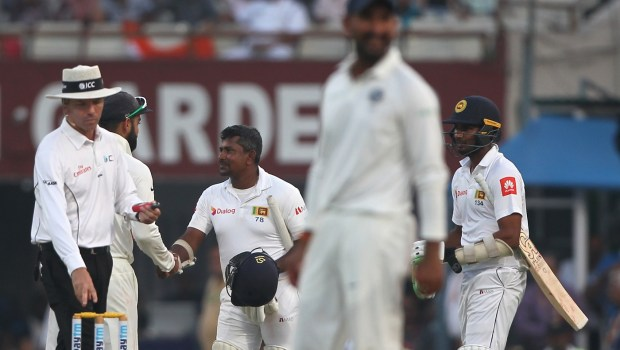 Match Draw during day five of the 1st test match between India and Sri Lanka