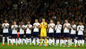 England team observe a minutes silence in memory of Jimmy Armfield