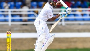 Shane Dowrich of West Indies bats