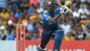 Sri Lanka's Angelo Mathews plays a shot during the second one-day international match between Sri Lanka and South Africa