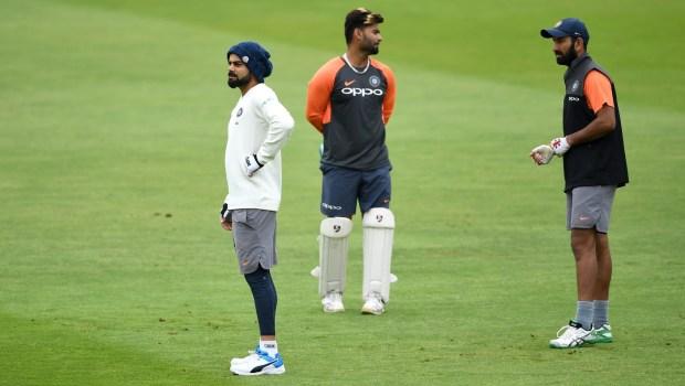 India captain Virat Kohli during a nets session