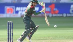 Bangladeshi batsman Mushfiqur Rahim plays a shot