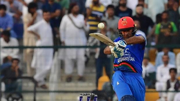 Afghan batsman Hashmatullah Shaidi plays a shot
