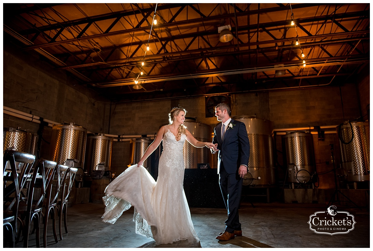 Katie And Justins Greenery Quantum Leap Winery Orlando