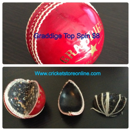 cricket ball top spin red image