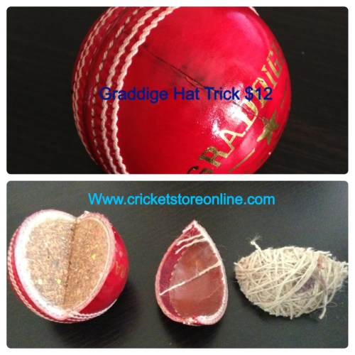 cricket ball hat trick red image