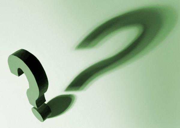 Question mark shadow