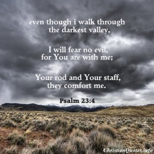 Walking through the Darkest Valley