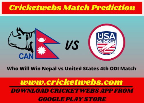 Nepal vs United States 4th ODI Match 2021 Prediction