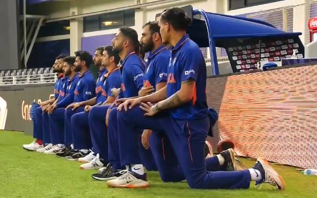 Watch T20 World Cup 2021: Staff India takes knee forward of the Pakistan conflict – Google IPL News
