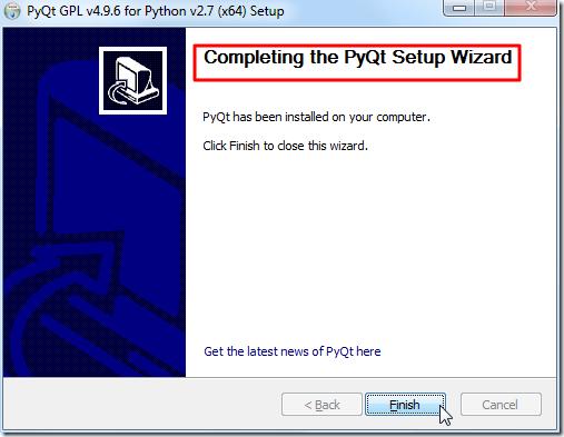 complete install pyqt